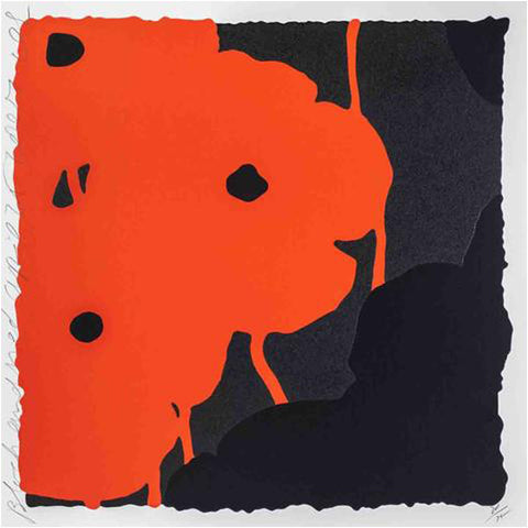 Donald Sultan (American, b. 1951), Red & Black Poppies I, 2007, screenprint, signed, ed. 75
