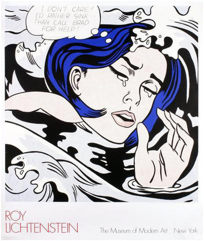 After Roy Lichtenstein (American, 1923-1997), Drowning Girl, 1989, screenprint, ed. 1000