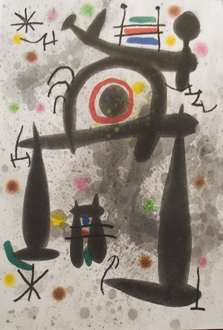 Joan Miro (Spanish, 1893-1983), V from Le miroir de l'homme par les bêtes, 1972, etching and aquatint