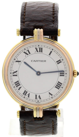 Ladies Cartier Vendome 18K Gold Trinity Watch