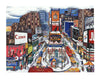 "Linnea Pergola (American, b. 1953), ""Times Square in the Snow"", 1995, screenprint, signed, ed. 45"