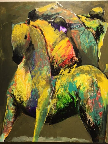"Luigi Fumagalli (Italian, b. 1937), ""Equestre Study #14"", ca. 2007, oil on canvas, signed"