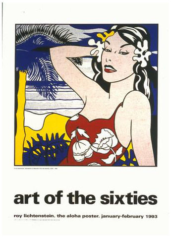 After Roy Lichtenstein (American, 1923-1997), Aloha, from Art of the Sixties, 1993, screenprint