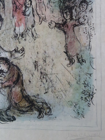 "Marc Chagall (French/Belorussian, 1887-1985), ""Jacob's Blessing"", lithograph, 1979, signed, ed. 50"