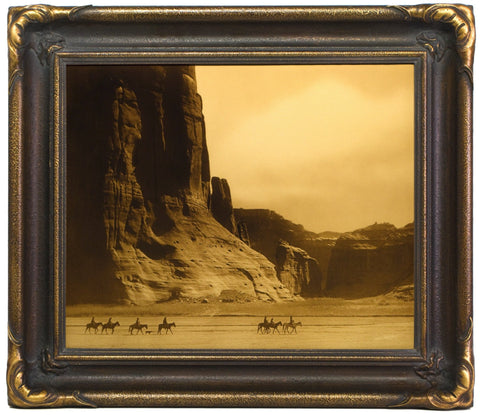 "Edward S. Curtis (American, 1868-1952), ""Canyon de Chelly-Navaho"", taken 1904, printed 2008, contemporary goldtone/orotone"