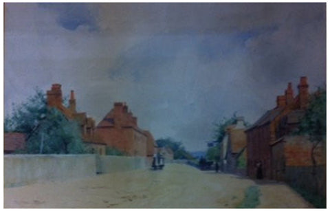 Thomas (Tom) Trythall Rowe (British, b. 1856), A Street in Cookham Dean, ca. 1890, watercolor on paper, signed