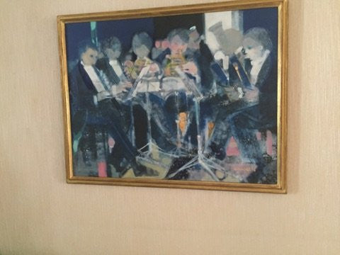 Paul Ambille (French, 1930-2010), A sextet: six musicians performing, 1991, oil on canvas, signed and dated