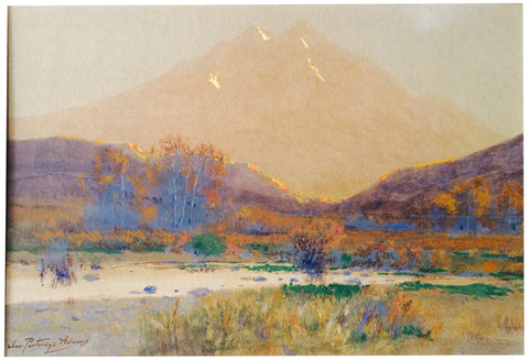 Charles Partridge Adams (American, 1858-1942), Mountainous Landscape (possibly Mount Princeton), watercolor on paper, signed
