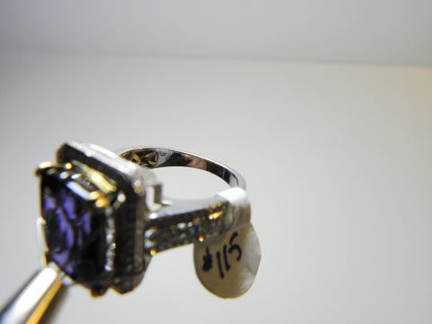 18K Yellow Gold, White Gold, Diamond & Tanzanite Ring
