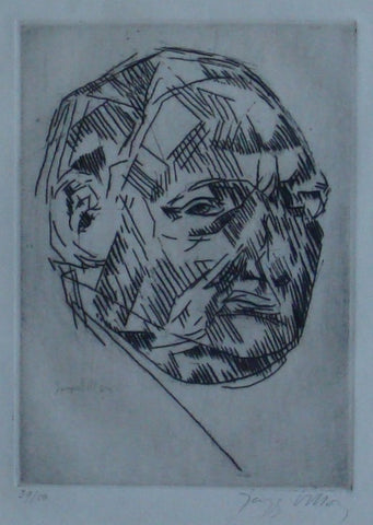 "Jacques Villon (French, 1875-1963), ""Felix Barre"", 1913, engraving, signed, ed. 50"
