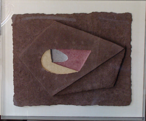 "Charles Hinman (American, b. 1932), ""Untitled"", 1982, handcast paper, signed"