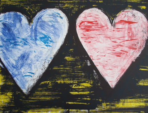"Jim Dine (American, b. 1935), ""Two Hearts at Sunset"", 2005, color lithograph, signed, annotated, ed. 200"