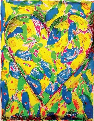 "Jim Dine (American, b. 1935), ""Blue Heart"", 2005, color lithograph, signed, annotated, ed. 200"