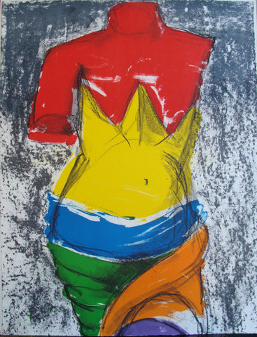 "Jim Dine (American, b. 1935), ""The Bather"", 2005, color lithograph, signed, annotated, ed. 200"