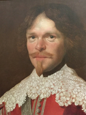Circle of Abraham Wuchters (Dutch, 1608-1682), Portrait of a gentleman in red costume, oil on panel