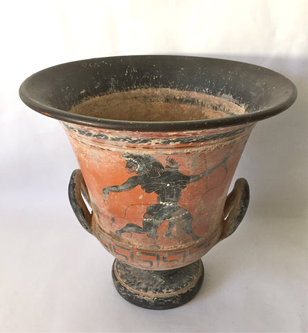 Antique Greek Black-Figure Pottery Hydria, mid 19th century