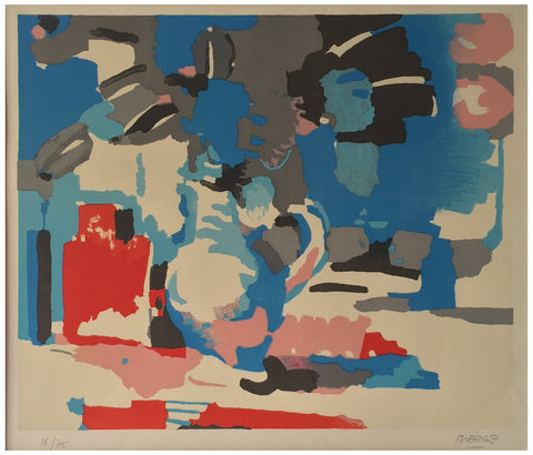 Roland Bierge (French, 1922-1991), Modernist Abstract, screenprint, signed