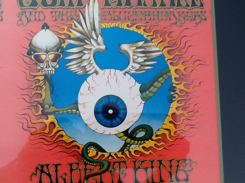 'The Flying Eyeball', printer's poster proof for the Jimi Hendrix Experience, designed by Rick Griffin