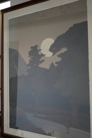 "Russell Chatham (American, b. 1939), ""Spring Moonrise Over the Sangre de Cristo Mountains"", lithograph in colors, ca. 1999-2000, signed, ed. 300"
