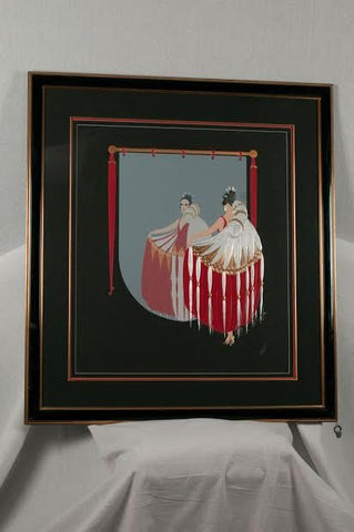 "ErtŽé (Romain de Tirtoff) (Russian/French, 1892-1990), ""The Mirror"", 1985, screenprint in colors, signed, ed. 450 (Lee 141)"