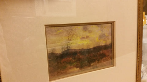 Charles Partridge Adams (American/California, 1858-1942), Sunset Landscape, watercolor, signed