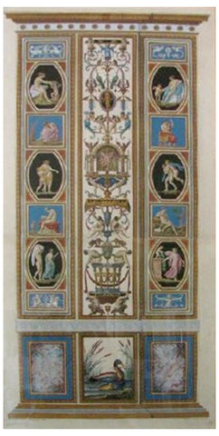 After Raphael (Italian, 1483-1520), Loggie de Rafaele nel Vaticano, 1772-77: Pilaster 9, handcolored engraving, engraved by Giovanni Ottaviani (1735-1808) after P. Camporesi and G. Savorelli