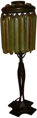 Tiffany Studios Patinated Bronze Candlestick Lamp, American, ca. 1900-1918, no. 524