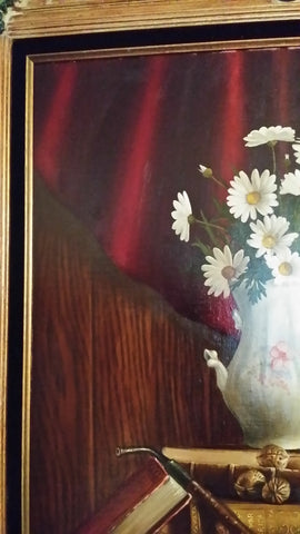 Charles Becker (American, 20th/21st century), Still Life with Daisies, 1977, oil on canvas, signed and dated