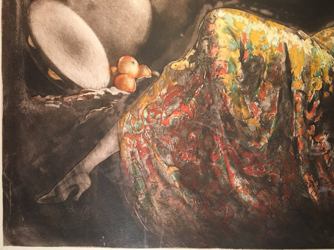 "Louis Icart (French, 1880-1950), ""Gay Senorita"" (Gitane), 1939, etching and aquatint in colors, signed (H. C. & I. 477)"