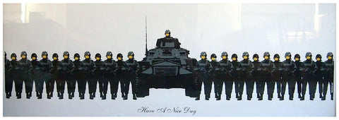 "Banksy (British, b. 1974), ""Have a Nice Day"", 2003, screenprint in colors, ed. 500"