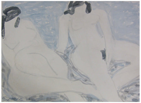 Stephen Pace (American, 1918-2010), Two Nudes in an Interior, 1966, watercolor on paper, signed