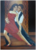 Karen Seamon (American, contemporary), Tango Couple, oil on canvas