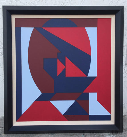 "Victor Vasarely (Hungarian/French, 1906-1997), ""Losia"", 1953, acrylic on canvas, signed"