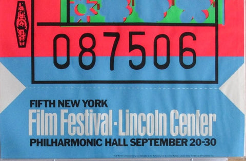 "Andy Warhol (American, 1928-1987), ""Film Festival / Lincoln Center"", 1967 (Feldman-Schellmann, II.19), screenprint, unsigned as issued, ed. 500"