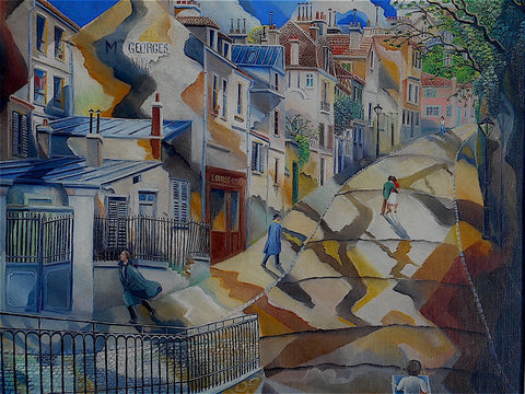 "Elie Lascaux (French, 1888-1969), ""La Rue St. Vincent"", 1946, oil on canvas, signed and dated"