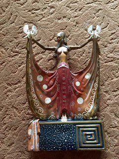 "Art Deco Style Polychromed Bronze Figural Sculpture, 1987, ed. 375, after ""Venus"" by Erté (Russian/French, 1892-1990)"