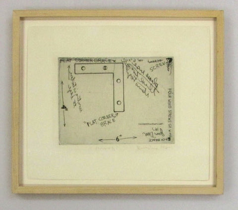 Jim Dine (American, b. 1935), Untitled (Flat Corner Brace), 1962, etching, signed and dated, ed. 60