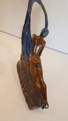 "Art Deco Style Polychrome Bronze Figural Sculpture, 1987, after ""French Rooster"" by Erté (Romain de Tirtoff) (1892-1990), ed. 375"