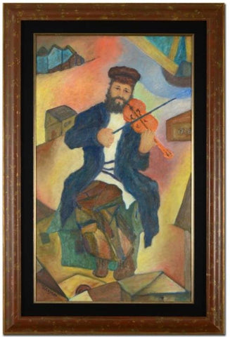 Itzhak Tordjman (Israeli, b. 1956 ), Fiddler on the Roof, oil on canvas, signed