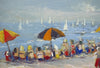 "Robert Waltsak (American, b. 1944), ""Mantoloking N.J. Summer Day"", oil on canvas, signed"