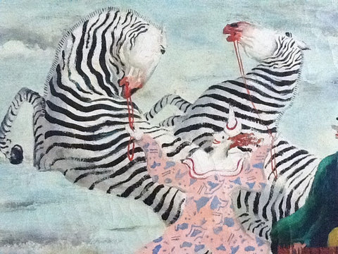 Jean Isy de Botton (French, 1898-1978), Clowns et Zebra en Liberté, ca. 1946, oil on canvas, signed