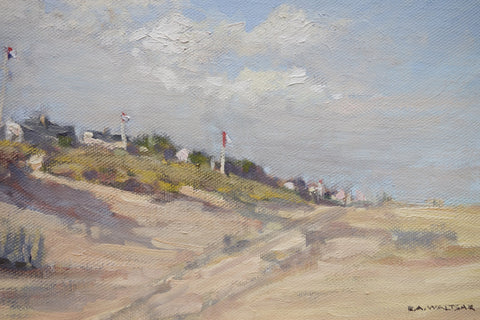 "Robert Waltsak (American, b. 1944), ""Mantoloking N.J. (Summer of 2015)"", 2015, oil on board, signed"