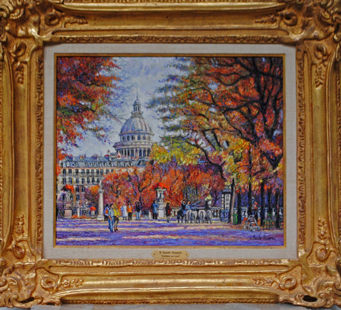 "H. Claude Pissarro (French, b. 1935), ""Automne au Luco (Paris)"", oil on canvas, signed"
