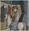 Lucio Ranucci (Italian, b. 1925), Boy on Carousel Horse, 1972, oil on linen, signed