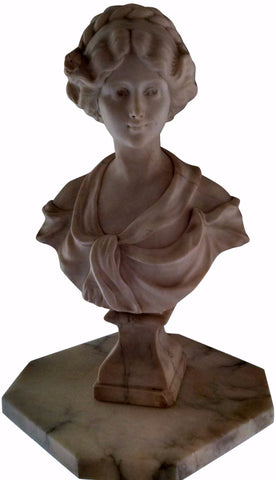 After Adolfo Cipriani (Italian, act. 1880-1930), Marble Bust of a Classical Woman, late 19th/early 20th century