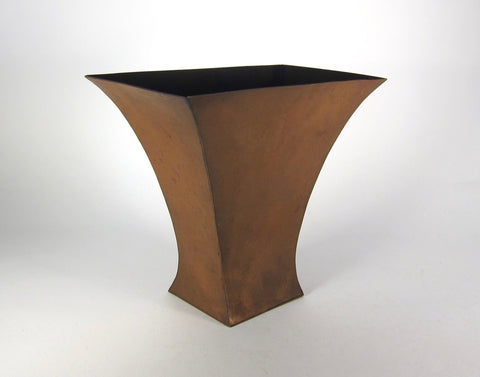 American Arts and Crafts Copper Vase, Marie Zimmermann  (1879-1972), ca. early 1920s