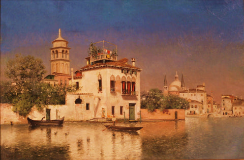 Warren Sheppard (American, 1858-1937), View of Venice, oil on canvas, signed