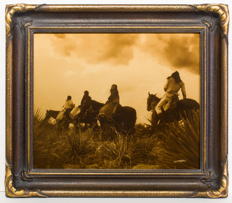 "Edward S. Curtis (American, 1868-1952), ""Before the Storm"", taken 1906, printed 2008, contemporary goldtone/orotone"