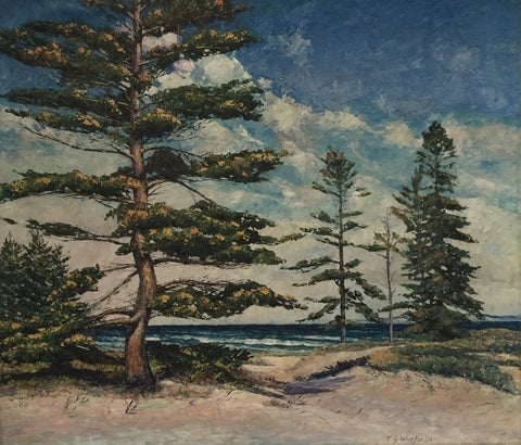Theodore Winfield  (American, 1894-1965), James Bay Beaver Island, oil on canvas, signed