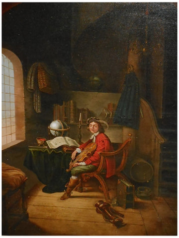 After Gerrit Dou (Dutch, 1613-1675), The Young Violinist, oil on panel, ca. late18th/early 19th century